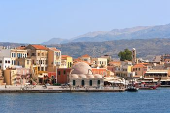 Old Venetian harbor in Chania. Crete, Greece